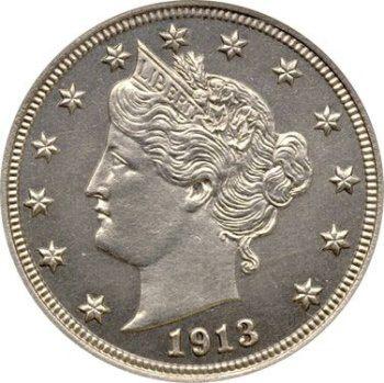 5 centů 1913, cenná mince, která nikdy nebyla v oběhu