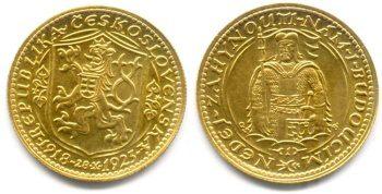 Velmi cenné zlaté české mince - zlaté dukáty z 1 republiky