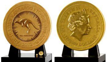 Nejtěžší zlatá mince na světě. 1000 kg ryzího zlata (22 karátů)